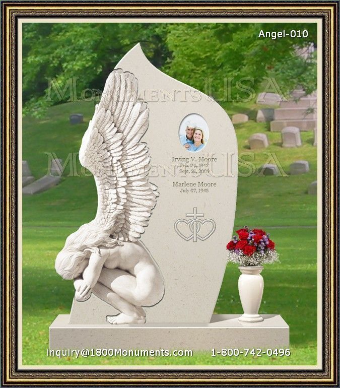 Angel Headstone 010