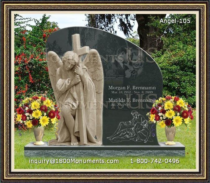 Angel Headstone 105