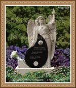 Angel Headstone 003