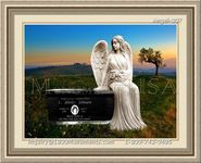 Angel Headstone 007