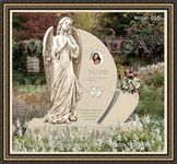 Angel Headstone 015