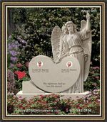 Angel Headstone 044