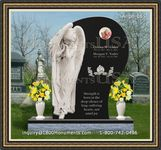 Angel Headstone 065