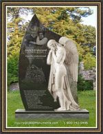 Angel Headstone 074