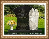 Angel Headstone 154