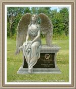 Angel Headstone 242